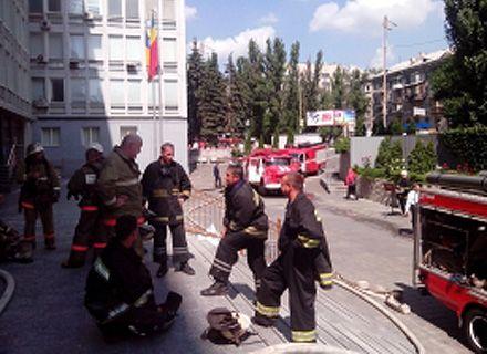 пожар в АМКУ / Фото: kyiv.mns.gov.ua