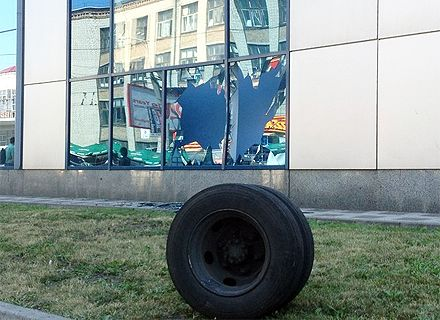 колесо от маршрутки / Фото: Сегодня
