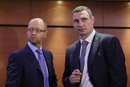 Арсений Яценюк и Виталий Кличко