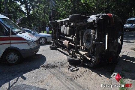 Милиция Врадиевки устроила ДТП в Николаеве