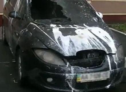 сгорел автомобиль / Фото: kyiv.mns.gov.ua
