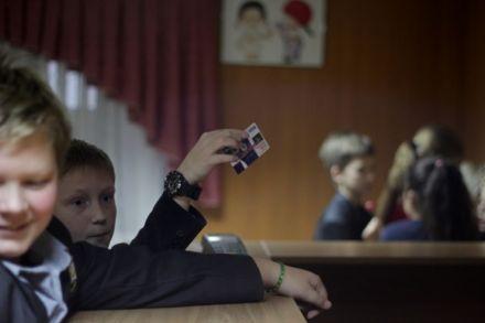 """Безнал в школі / Фото: А. Темченко, """"Вести"""""""