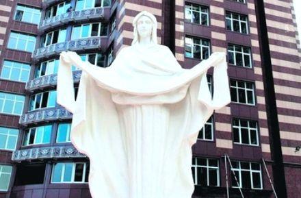 """Статуя Богородиці, Лукьянівка / Фото : """"Сегодня"""""""