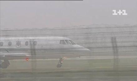 Аеропорт, туман / Фото : скріншот ТСН