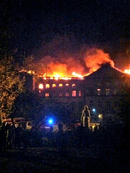 Пожар в здании университета