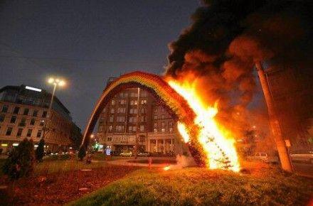 Беспорядки в Варшаве / Фото: Твиттер @PolandTalks