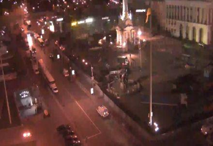 "Евромайдан, кадр видео с сервиса ""Видеопробки"""