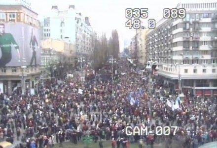 Камера наблюдения на Бессарабской площади / Кадр: Видео пробки