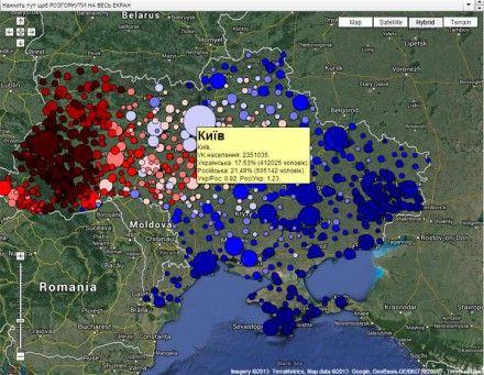 Мовна карта ВК