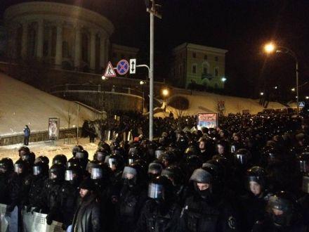 Бійці ВВ на підступах до Майдану