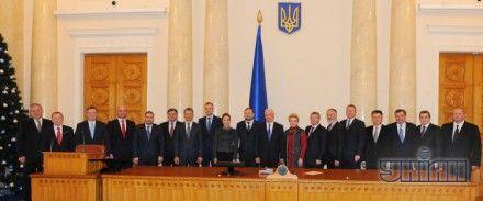 Кабинет министров ровно год назад