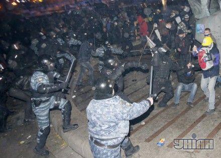 Столкновение между правоохранителями и участниками акции за евроинтеграцию