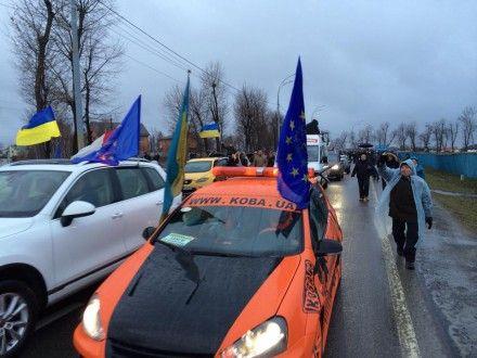 Автомайдан едет в Межигорье / Фото: Facebook Автомайдан