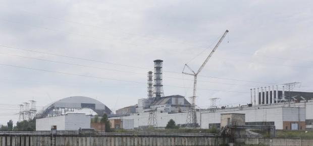 Въезд на территорию атомной электростанции