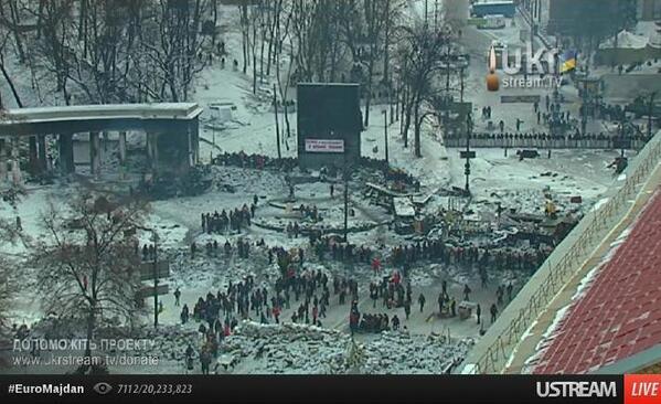 На Грушевского продолжается перемирие / @hrushevskoho