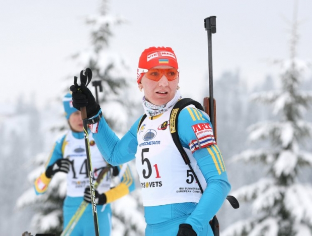 Winter Olympic champion Olena Pidhrushna / Photo from UNIAN