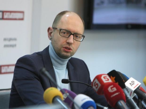 Яценюк говорит, что объявлено перемирие