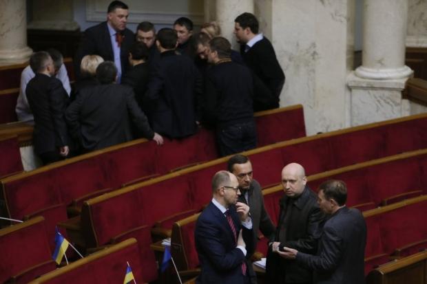 Опозиція заблокувала частину фракції КПУ в сесійній залі
