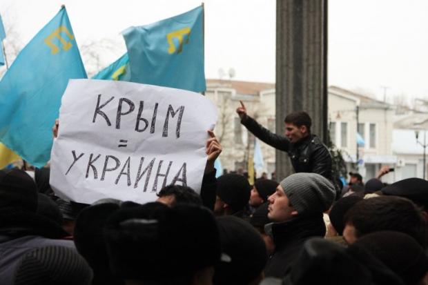 В Крыму прошел многолюдный митинг татар