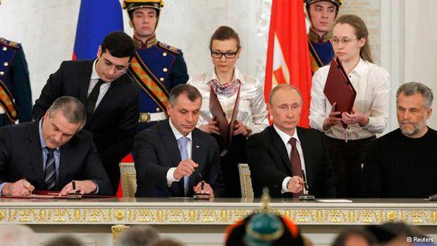 В Москве подписан договор об аннексии Крыма / www.dw.de