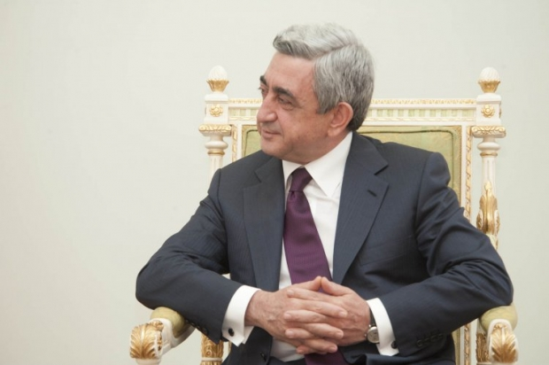 Серж Саргсян пожелал Петру Порошенко успехов на новой должности / фото УНИАН
