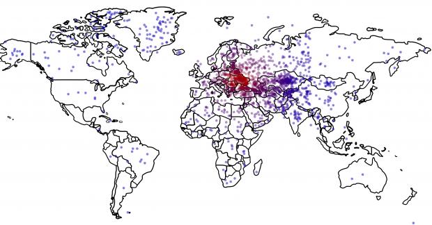 Украина на карте / washingtonpost.com