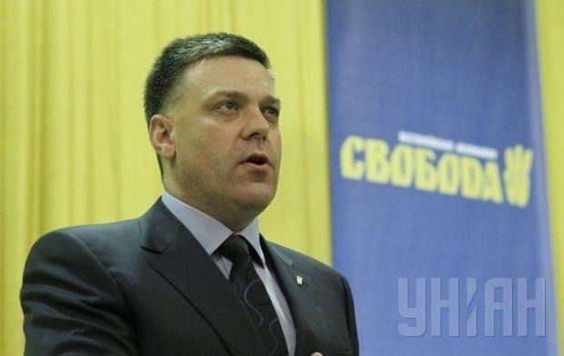 Oleh Tyahnybok first appeared in Verkhovna Rada in 2002