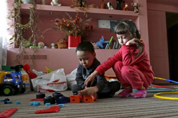 Дети-беженцы из Крыма в пансионате Пуще-Водицы. Киевская обл / Фото УНИАН