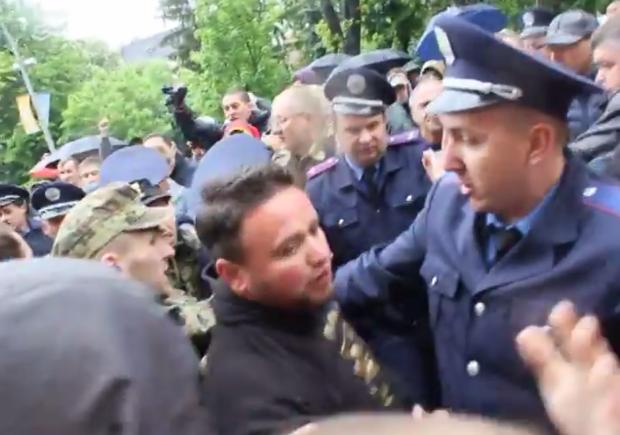 Потасовка во Львове:
