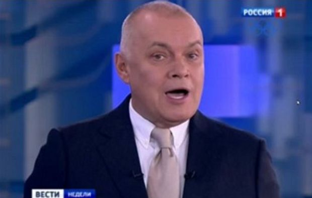 Dmitry Kiselyov is a prominent propagandist for Russian President Vladimir Putin / Screenshot