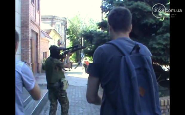 В центре Мариуполя находятся вооруженные боевики / 0629.com.ua