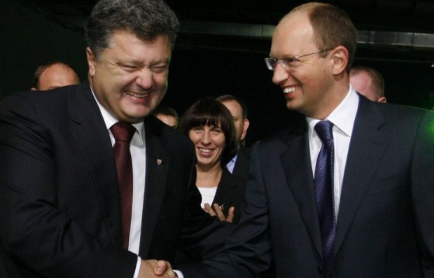Poroshenko does not see grounds for dismissal of Yatsenyuk from post of Prime Minister/Photo UNIAN