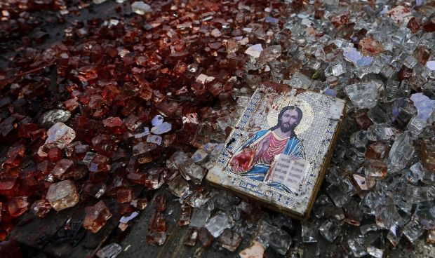 In occupied Donetsk / REUTERS