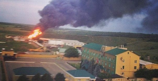 Fighters attacked a border unit in Luhansk, today, on June 2. / colonelcassad.livejournal.com