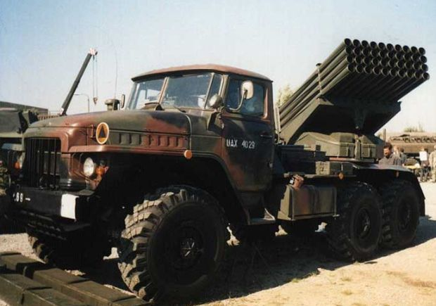 """National Guard officially states that it does not have """"Grad"""" BM-21 launch vehicle / http://army.lv/"""