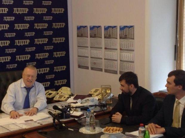 Жириновський зустрівся з Пушиліним / @BBCDanielS