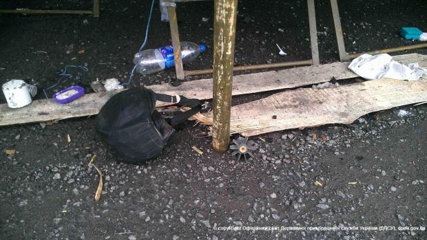 Лагерь пограничников после обстрела