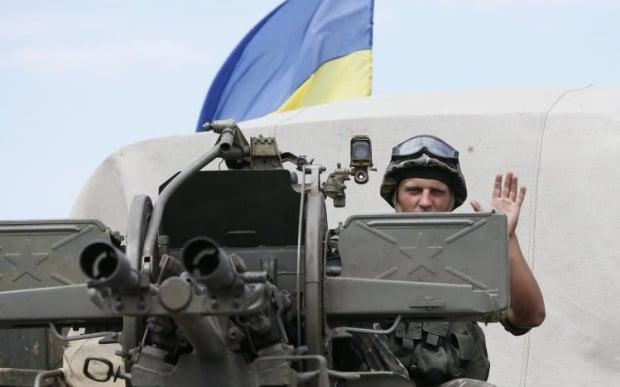 В Славянске поднят украинский флаг / Фото: УНИАН