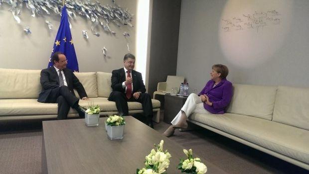 Poroshenko holds meeting with Merkel and Hollande/ facebook.com/svyatoslav.tsegolko
