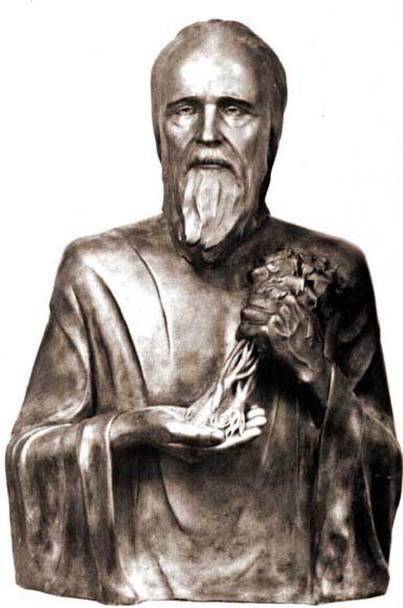 скульптурный портрет Агапита Печерского