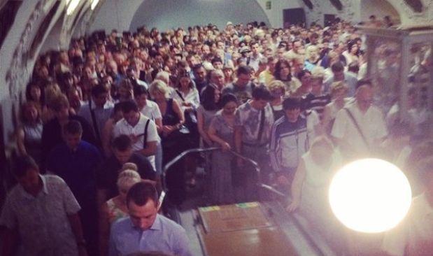 Пассажиров высадили на станции метро