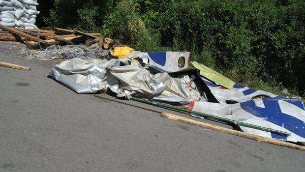 Возле блокпоста террористов найден фюзеляж самолета / Пресс-центр АТО, Facebook