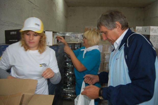 Вся закупаемая продукция доставляется в распределительный центр в Днепропетровске / Фото: Пресс-служба Штаба Рината Ахметова