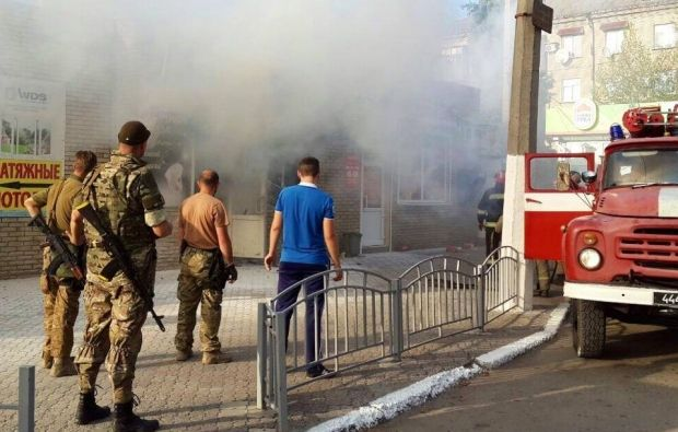 Взрыв в ювелирном магазине в Славянске / facebook.com/kiev1.mvs