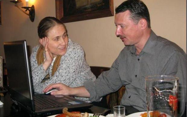 Ольга Кулыгина и Игорь Гиркин. Фото с сайтов боевиков