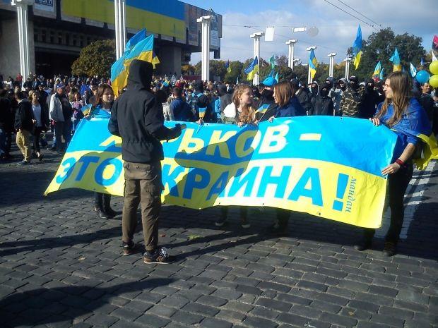 Кількість учасників мітингу зростає / glavnoe.ua