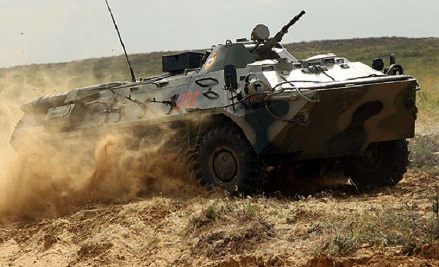 БТР збив двох співробітників Росгвардії/ фото Міністерства оборони РФ