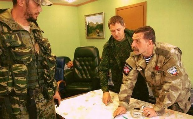Игорь Безлер (крайний справа) признает Донецк территорией Украины / vk.com