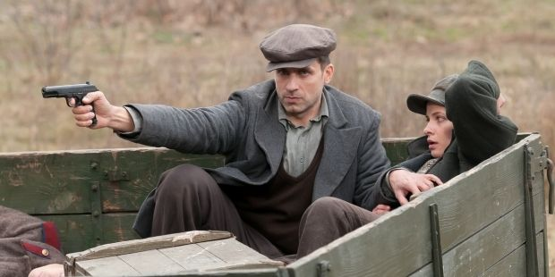 A screenshot from the Russian television drama series Smersh / russia.tv