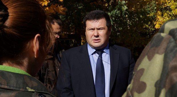 Гендиректор ЮУ АЭС Владимир Лисниченко во время посещения учебного центра подготовки